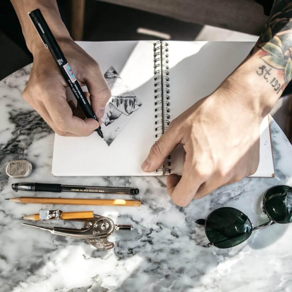 tatuagem e desenho